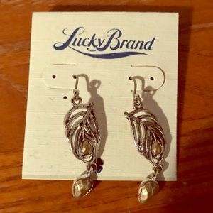 Lucky Brand Feather Earrings